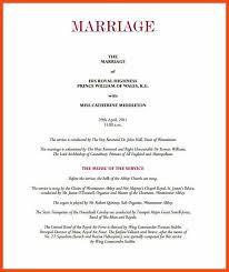 Wedding Bulletin Template Sample Wedding Programs Program Format