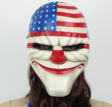 payday 2 halloween masks amazon com 2015 payday 2 halloween masquerade masks resin mask