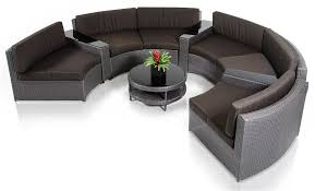 Outdoor Sofa Sectional Set Zuma Wicker Round Outdoor Sectional Set With Coffee Table