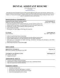Dental Student Resume Assistant Sample Dental Assistant Resume