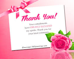 how to say thank you for a compliment 365greetings