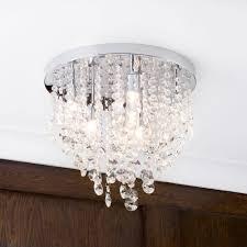 9 light semi flush circular bathroom ceiling light chrome