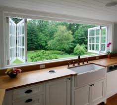 Windows That Open Out Ideas Kitchen Garage Window Diwhy