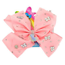 claires hair accessories jojo siwa bow gem tastic pink hair bow s us