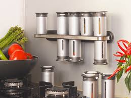 Stainless Steel Wall Spice Rack Dining Room Furnishing Kitchen Installation With Chic Wall