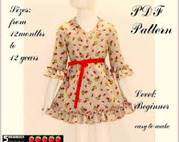 olivia peasant dress pattern free mother daughter apron