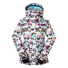 Gsou Snow Colorful Women U0027s Waterproof Windproof Snowboard Ski Jacket