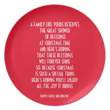 plate you are special christmas poem plates zazzle