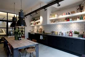 luxurious industrial look kitchen with additional decorating home