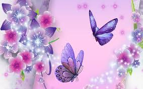 Purple Butterfly Decorations Floral Decorations With Butterfly Wallpaper Background 9873