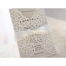 wedding invitations rose pattern laser cut wedding invitations
