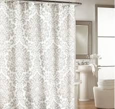 Threshold Medallion Shower Curtain by Cynthia Rowley Gray White Coral Moroccan Medallion Boho Chic