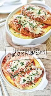 cuisine polenta baked polenta with chicken parmesan