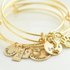 Personalized Bangle Bracelets Personalized Bangle Bracelet I Love You To The Moon And Back