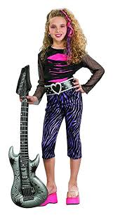 Black Halloween Costumes Girls Amazon Rubie U0027s Rock Star Child U0027s Costume Small Toys U0026 Games
