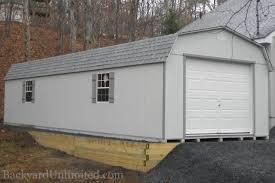 gambrel roof garage garages u0026 large storage single car garages backyard unlimited