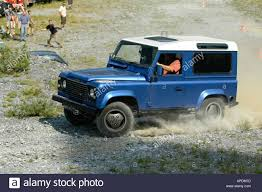land rover safari roof land rover defender 90 td5 station wagon blue metallic with white