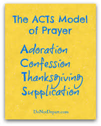 the acts model a simple method of prayer prayer tools