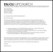 College Application Letter Uk College Professor Cover Letter Sle Livecareer