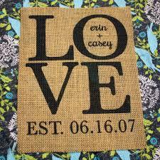 Custom Burlap Art Print Love - custom burlap prints erin elyse designs