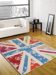 Cool Modern Rugs Retro Funky Cool Britannia Multi Colour Abstract Rug Buy Rugs