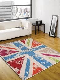 Multi Coloured Rug Uk Retro Funky Cool Britannia Multi Colour Abstract Rug Buy Rugs