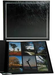 photo album with adhesive pages ncl jumbo photo album black pages