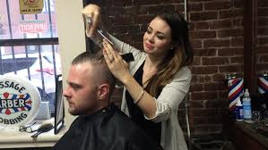 haircuts at the barbershop women african american your barber is increasingly likely to be a woman the signal