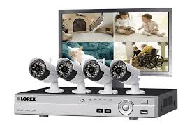 4 camera surveillance system with hd 1080p wired and hd 720p