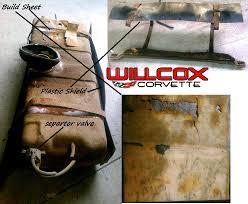 corvette build sheet 1971 corvette fuel tank removed 1971 with build sheet willcox