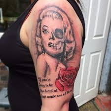 marilyn monroe tattoo by kimberleywarrentatto on deviantart