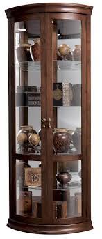 cherry wood china cabinet howard miller corner curios chancellor display cabinet homeworld