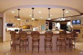 gorgeous lighting senior pla with decorations kitchen island