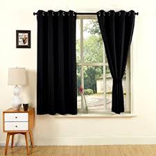 Blackout Curtains For Bedroom Yoja Black Thermal Insulated Grommet Blackout Curtains