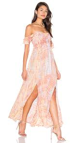 revolve dresses tiare hawaii hollie shoulder dress in leo beige skins revolve