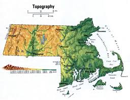 Massachusetts State Map by Landscape Map Massachusetts
