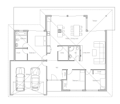 house plans with big bedrooms small house plan with three bedrooms and open plan large windows