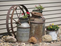 Old Milk Can Decorating Ideas 123 Best Milk Cans Images On Pinterest Milk Cans