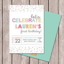 birthday invitation polka dot party sprinkles party