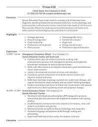 experienced teacher resume examples free education resume example eligibility specialist cover letter