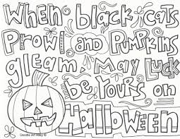 halloween coloring pages doodle art alley