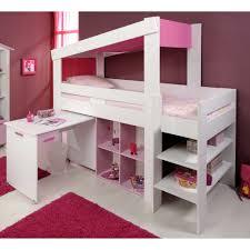 bureau pour chambre de fille lit combiné 90x200cm bureau et rangement l208xp110xh190cm