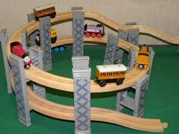 thomas the train wooden track table brio elc spiral elevated playset includes tracks for thomas wooden