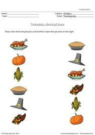 primaryleap co uk picture matching thanksgiving worksheet