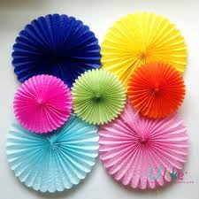 tissue paper fans 4 20 inch colorful tissue paper fan for christmas tree decoration