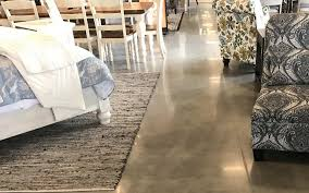polished concrete furniture store gainesville florida