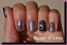 raggio di luna nails uv gel manicure with free hand nail art