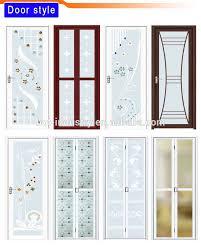 aluminum alloy frame frosted glass bathroom door enrty door with