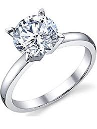 2 engagement rings 2 carat brilliant cubic zirconia cz sterling