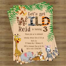 Jungle Birthday Card Safari Birthday Invitation Jungle Birthday Invitation Zoo